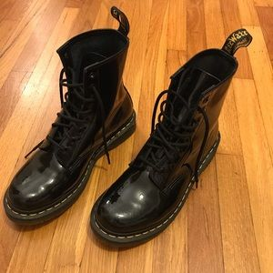 Dr. Martens 1460 Boot Black Patent Leather Size 9